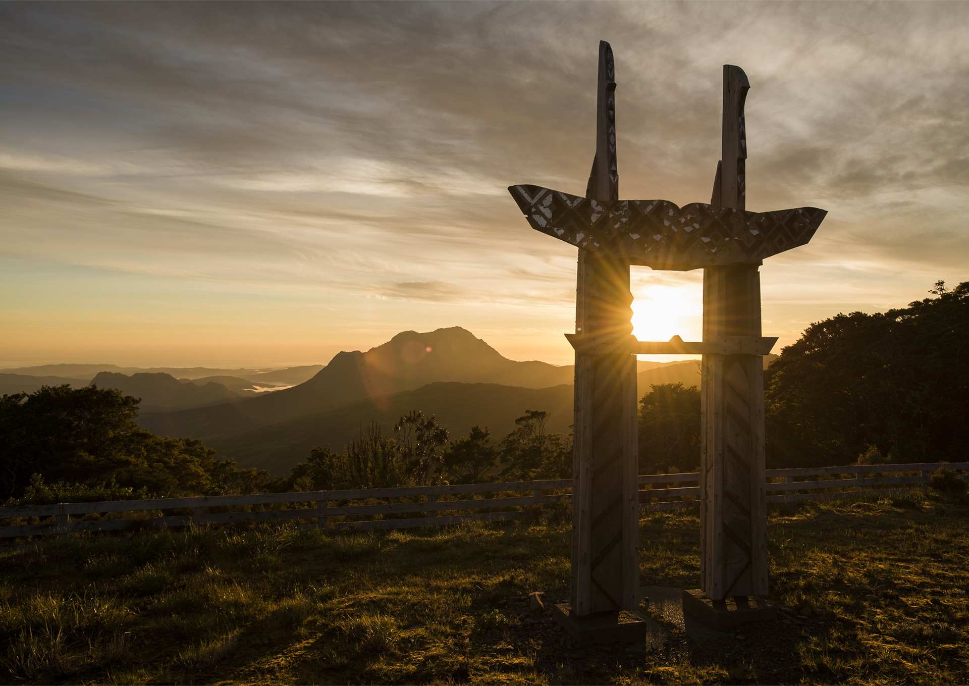 Sunrise at Maunga Hikurangi